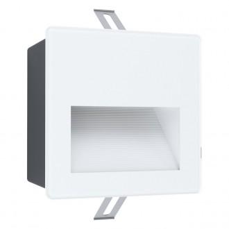 EGLO 99575 | Aracena Eglo ugradbena svjetiljka četvrtast 1x LED 400lm 4000K IP65 bijelo, crno