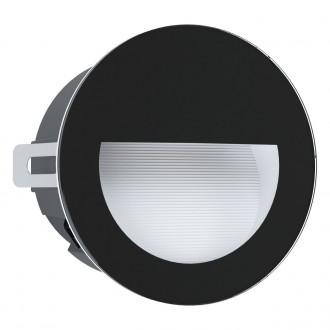 EGLO 99576 | Aracena Eglo ugradbena svjetiljka okrugli Ø125mm 1x LED 320lm 4000K IP65 crno, bijelo