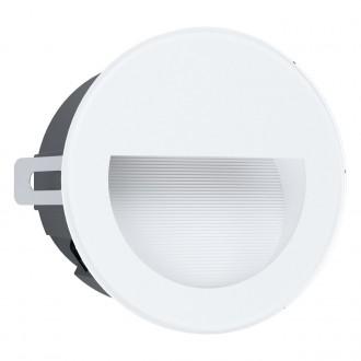 EGLO 99577 | Aracena Eglo ugradbena svjetiljka okrugli Ø125mm 1x LED 320lm 4000K IP65 bijelo, crno