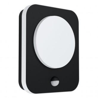 EGLO 99584   Madriz Eglo zidna svjetiljka pravotkutnik sa senzorom 1x LED 993lm 3000K IP44 crno, bijelo