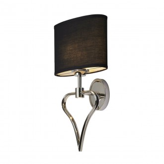 ELSTEAD BATH/FALMOUTH PC | Falmouth Elstead zidna svjetiljka 1x G9 320lm + 1x LED 70lm 3000K IP44 krom saten, crno