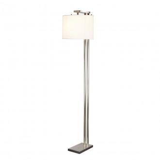 ELSTEAD BELMONT FL | Belmont Elstead podna svjetiljka 166cm s prekidačem 1x E27 satenski nikal, bijelo