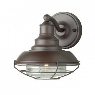 ELSTEAD EUSTON | Euston-EL Elstead zidna svjetiljka 1x E27 IP43 antik brončano, prozirno