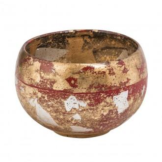 ELSTEAD FB/VERMILIONBOWL | Elstead pribor posuda ručno bojano antik zlato, crveno