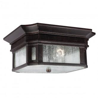 ELSTEAD FE/FEDERAL/F | Federal Elstead stropne svjetiljke svjetiljka namjenjeno za primorje 2x E27 IP44 UV brončano smeđe, efekt mjehura