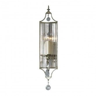 ELSTEAD FE-GIANNA1 | Gianna-EL Elstead zidna svjetiljka 1x E14 antik zlato, prozirno, antik ogledalo