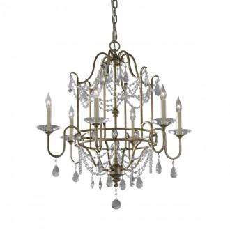ELSTEAD FE-GIANNA6 | Gianna-EL Elstead luster svjetiljka 6x E14 antik zlato, prozirno, antik ogledalo