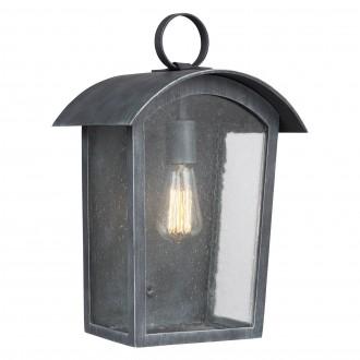 ELSTEAD FE/HODGES/L | Hodges Elstead zidna svjetiljka namjenjeno za primorje 1x E27 IP44 UV antik gvožđe, efekt mjehura