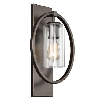 ELSTEAD FE/MARLENA1 ANBZ | Marlena Elstead zidna svjetiljka 1x E27 antik brončano, prozirno