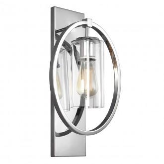 ELSTEAD FE/MARLENA1 CH | Marlena Elstead zidna svjetiljka 1x E27 krom saten, prozirno