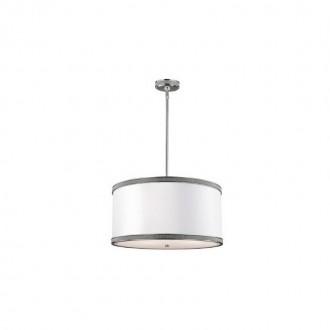 ELSTEAD FE/PAVE/P/M | Pave Elstead visilice svjetiljka 3x E27 satenski nikal, bijelo