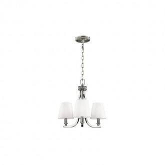 ELSTEAD FE/PAVE3 | Pave Elstead luster svjetiljka 3x E14 satenski nikal, bijelo