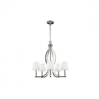 ELSTEAD FE/PAVE5 | Pave Elstead luster svjetiljka 5x E14 satenski nikal, bijelo