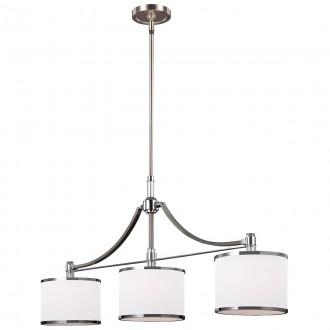 ELSTEAD FE-PROSPECT-PARK-3P | Prospect-Park Elstead visilice svjetiljka s podešavanjem visine 3x E27 satenski nikal, krom, opal
