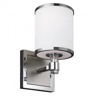 ELSTEAD FE-PROSPECT-PARK1 | Prospect-Park Elstead zidna svjetiljka 1x E27 satenski nikal, krom, opal