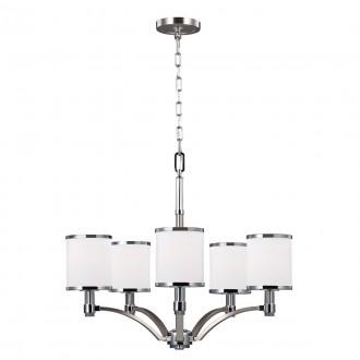 ELSTEAD FE-PROSPECT-PARK5 | Prospect-Park Elstead luster svjetiljka 5x E27 satenski nikal, krom, opal