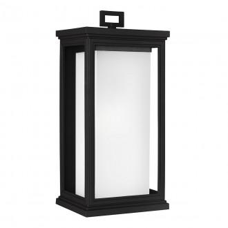 ELSTEAD FE/ROSCOE/L | Roscoe Elstead zidna svjetiljka namjenjeno za primorje 1x E27 IP44 UV crno, opal