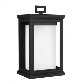 ELSTEAD FE/ROSCOE/M | Roscoe Elstead zidna svjetiljka namjenjeno za primorje 1x E27 IP44 UV crno, opal