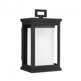 ELSTEAD FE/ROSCOE/S | Roscoe Elstead zidna svjetiljka namjenjeno za primorje 1x E27 IP44 UV crno, opal