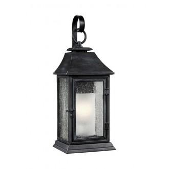 ELSTEAD FE/SHEPHERD/2L | Shepherd-EL Elstead zidna svjetiljka namjenjeno za primorje 1x E27 IP44 UV antik crno, bijelo, efekt mjehura