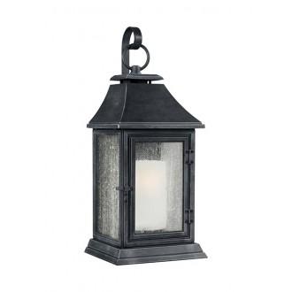 ELSTEAD FE/SHEPHERD/2XL | Shepherd-EL Elstead zidna svjetiljka namjenjeno za primorje 1x E27 IP44 UV antik crno, bijelo, efekt mjehura