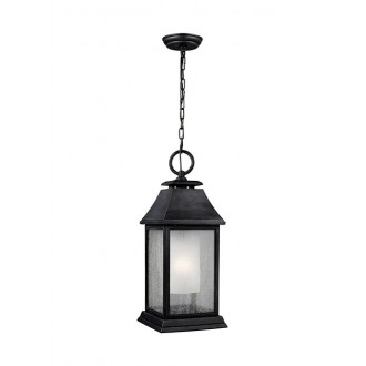 ELSTEAD FE/SHEPHERD/8L | Shepherd-EL Elstead visilice svjetiljka namjenjeno za primorje 1x E27 IP44 UV antik crno, bijelo, efekt mjehura