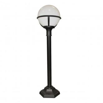 ELSTEAD GLENBEIGH PILLAR | Glenbeigh Elstead podna svjetiljka 106cm namjenjeno za primorje 1x E27 IP44 UV crno, opal