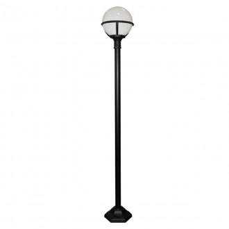 ELSTEAD GLENBEIGH POST | Glenbeigh Elstead podna svjetiljka 181cm namjenjeno za primorje 1x E27 IP44 UV crno, opal
