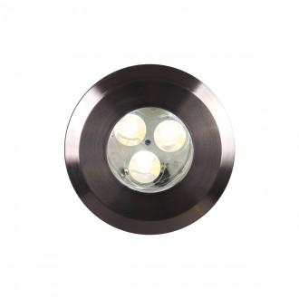 ELSTEAD GZ/FUSION1 | Bronze-Elite-Fusion Elstead ugradbena svjetiljka Ø90mm 90x90mm 3x LED 300lm 3000K IP65 plemeniti čelik, čelik sivo, prozirno