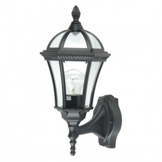 ELSTEAD GZH-LB1 | Ledbury Elstead zidna svjetiljka 1x E27 IP44 crno, prozirno