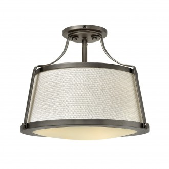 ELSTEAD HK-CHARLOTTE-SF-AN | Charlotte-EL Elstead stropne svjetiljke svjetiljka 3x E27 antični nikal, sivobijela