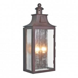 ELSTEAD KENDAL | Balmoral-Kendal-Stow Elstead zidna svjetiljka 2x E14 IP44 antik brončano, efekt mjehura
