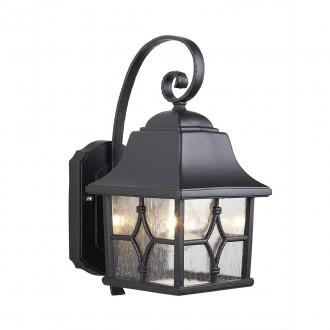 ELSTEAD KENT | Kent-EL Elstead zidna svjetiljka 1x E27 IP44 crno, prozirno