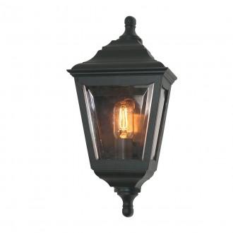 ELSTEAD KERRY FLUSH | Kerry Elstead zidna svjetiljka namjenjeno za primorje 1x E27 IP44 UV crno, prozirno