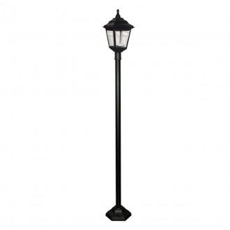 ELSTEAD KERRY POST | Kerry Elstead podna svjetiljka 191cm namjenjeno za primorje 1x E27 IP44 UV crno, prozirno