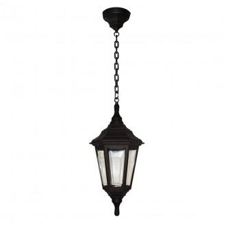 ELSTEAD KINSALE CHAIN | Kinsale Elstead visilice svjetiljka namjenjeno za primorje 1x E27 IP44 UV crno, prozirno