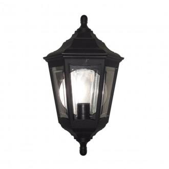ELSTEAD KINSALE FLUSH | Kinsale Elstead zidna svjetiljka namjenjeno za primorje 1x E27 IP44 UV crno, prozirno