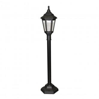 ELSTEAD KINSALE PILLAR | Kinsale Elstead podna svjetiljka 118cm namjenjeno za primorje 1x E27 IP44 UV crno, prozirno