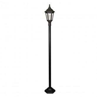 ELSTEAD KINSALE POST | Kinsale Elstead podna svjetiljka 193cm namjenjeno za primorje 1x E27 IP44 UV crno, prozirno