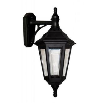 ELSTEAD KINSALE WALL | Kinsale Elstead zidna svjetiljka namjenjeno za primorje 1x E27 IP44 UV crno, prozirno