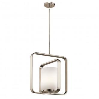 ELSTEAD KL/CITY LOFT/P/L | City-EL Elstead visilice svjetiljka elementi koji se mogu okretati 1x E27 satenski nikal, opal