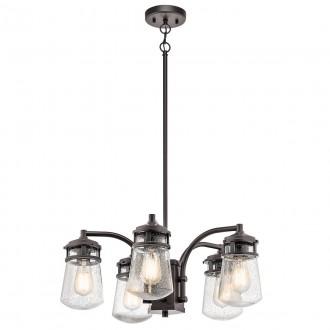 ELSTEAD KL-LYNDON-5P-AZ | Lyndon Elstead luster svjetiljka s podešavanjem visine 5x E27 IP44 brončano smeđe, efekt mjehura