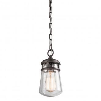 ELSTEAD KL-LYNDON8-S-AZ | Lyndon Elstead visilice svjetiljka 1x E27 IP44 brončano smeđe, efekt mjehura