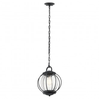 ELSTEAD KL-VANDALIA8-M | Vandalia Elstead visilice svjetiljka 1x E27 IP44 crno, efekt mjehura