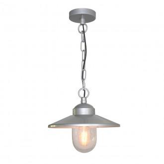 ELSTEAD KLAMPENBORG8 | Klampenborg Elstead visilice svjetiljka 1x E27 IP44 plemeniti čelik, čelik sivo, prozirno