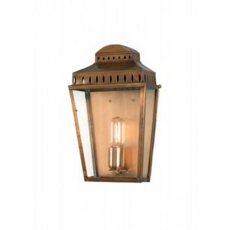 ELSTEAD MANSION HOUSE BR | Mansion-House Elstead zidna svjetiljka namjenjeno za primorje, ručna izrada 1x E27 IP44 UV antik bakar, prozirno