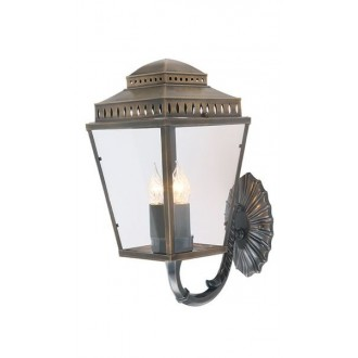 ELSTEAD MANSION-HOUSE-WB1-BR | Mansion-House Elstead zidna svjetiljka namjenjeno za primorje, ručna izrada 3x E14 IP44 UV antik bakar, prozirno