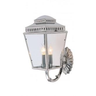 ELSTEAD MANSION-HOUSE-WB1-PN | Mansion-House Elstead zidna svjetiljka namjenjeno za primorje, ručna izrada 3x E14 IP44 UV satenski nikal, prozirno
