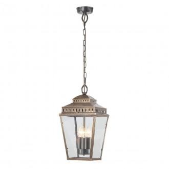 ELSTEAD MANSION-HOUSE8-BR | Mansion-House Elstead visilice svjetiljka namjenjeno za primorje, ručna izrada 3x E14 IP44 UV antik bakar, prozirno
