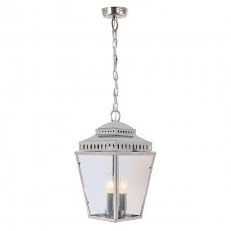 ELSTEAD MANSION-HOUSE8-PN | Mansion-House Elstead visilice svjetiljka namjenjeno za primorje, ručna izrada 3x E14 IP44 UV satenski nikal, prozirno